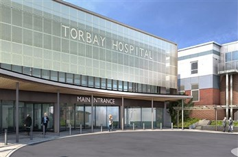 Torbay Hospital CCU and Main Entrance